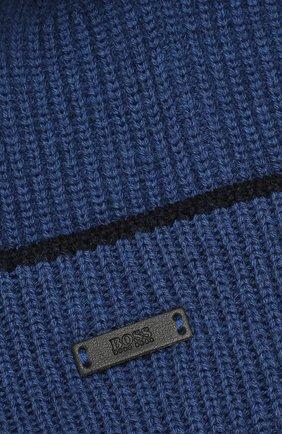 Мужская шерстяная шапка BOSS синего цвета, арт. 50416305   Фото 3