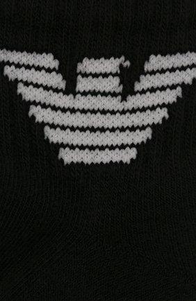 Детские комплект из двух пар носков EMPORIO ARMANI черно-белого цвета, арт. 406500/9A651 | Фото 2