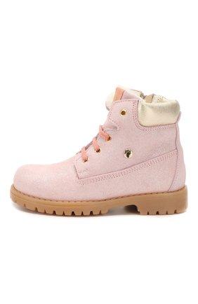 Детские кожаные ботинки с меховой отделкой WALKEY розового цвета, арт. Y1A4-40143-0416/25-29 | Фото 2