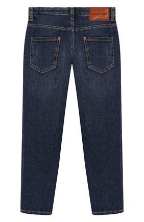 Детские джинсы DSQUARED2 темно-синего цвета, арт. DQ03NP-D00VR   Фото 2
