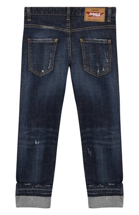 Детские джинсы DSQUARED2 синего цвета, арт. DQ03LB-D00VS   Фото 2