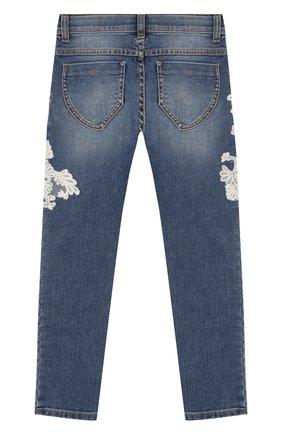 Детские джинсы ERMANNO SCERVINO голубого цвета, арт. 45I JL07 JNS/4-8   Фото 2