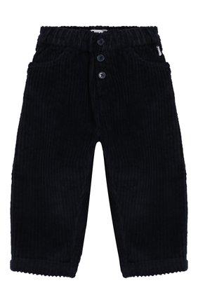 Детские хлопковые брюки IL GUFO темно-синего цвета, арт. A19PL283V6011/3М-9М | Фото 1