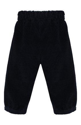 Детские хлопковые брюки IL GUFO темно-синего цвета, арт. A19PL283V6011/3М-9М | Фото 2