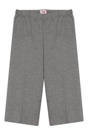 Детские укороченные брюки IL GUFO светло-серого цвета, арт. A19PL242WR003/10A-12A   Фото 1