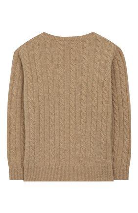 Детский шерстяной пуловер IL GUFO бежевого цвета, арт. A19MA211EM220/5А-8А | Фото 2