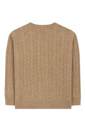 Детский шерстяной пуловер IL GUFO бежевого цвета, арт. A19MA211EM220/2А-4А | Фото 2