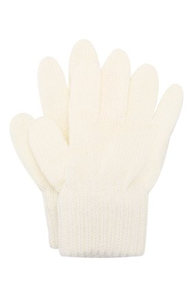 Детские шерстяные перчатки CATYA белого цвета, арт. 923531 | Фото 1
