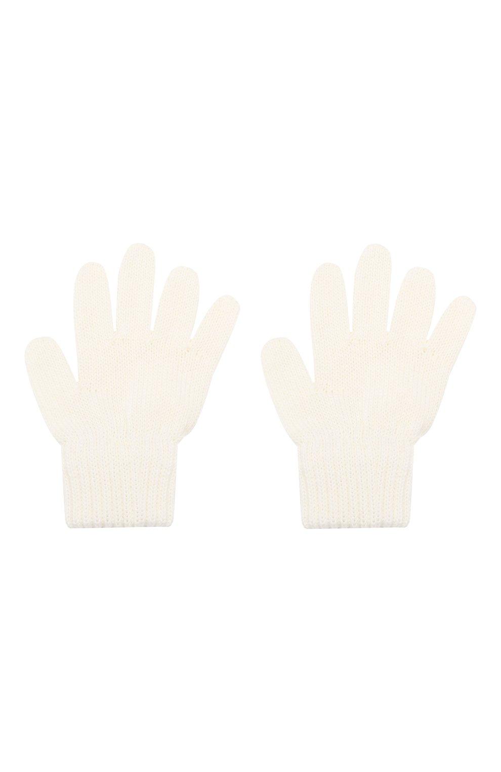 Детские шерстяные перчатки CATYA белого цвета, арт. 923531   Фото 2