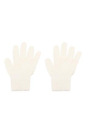 Детские шерстяные перчатки CATYA белого цвета, арт. 923531 | Фото 2