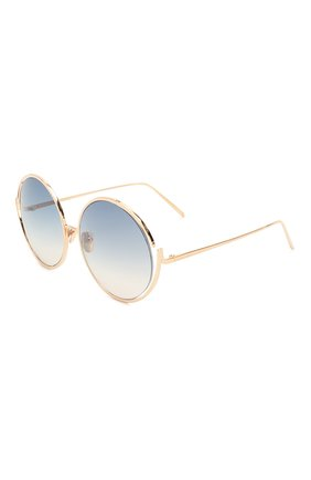 Мужские солнцезащитные очки LINDA FARROW синего цвета, арт. LFL680C14 SUN | Фото 1
