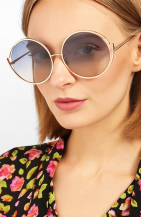 Мужские солнцезащитные очки LINDA FARROW синего цвета, арт. LFL680C14 SUN | Фото 2