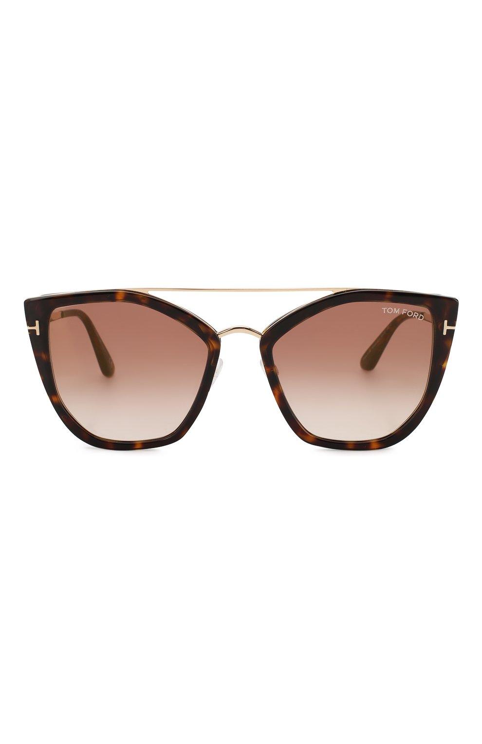 Женские солнцезащитные очки TOM FORD коричневого цвета, арт. TF648 52G | Фото 3