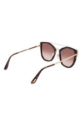 Женские солнцезащитные очки TOM FORD коричневого цвета, арт. TF648 52G | Фото 4