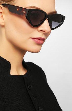 Женские солнцезащитные очки DIOR коричневого цвета, арт. DI0RSPIRIT2 807 | Фото 2