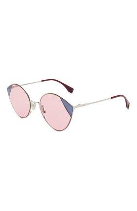 Мужские солнцезащитные очки FENDI розового цвета, арт. 0341 AVB | Фото 1