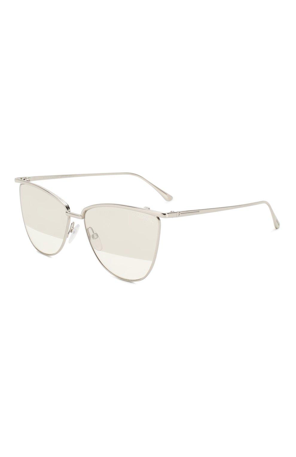 Женские солнцезащитные очки TOM FORD серебряного цвета, арт. TF684 16B | Фото 1