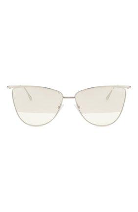 Женские солнцезащитные очки TOM FORD серебряного цвета, арт. TF684 16B | Фото 3
