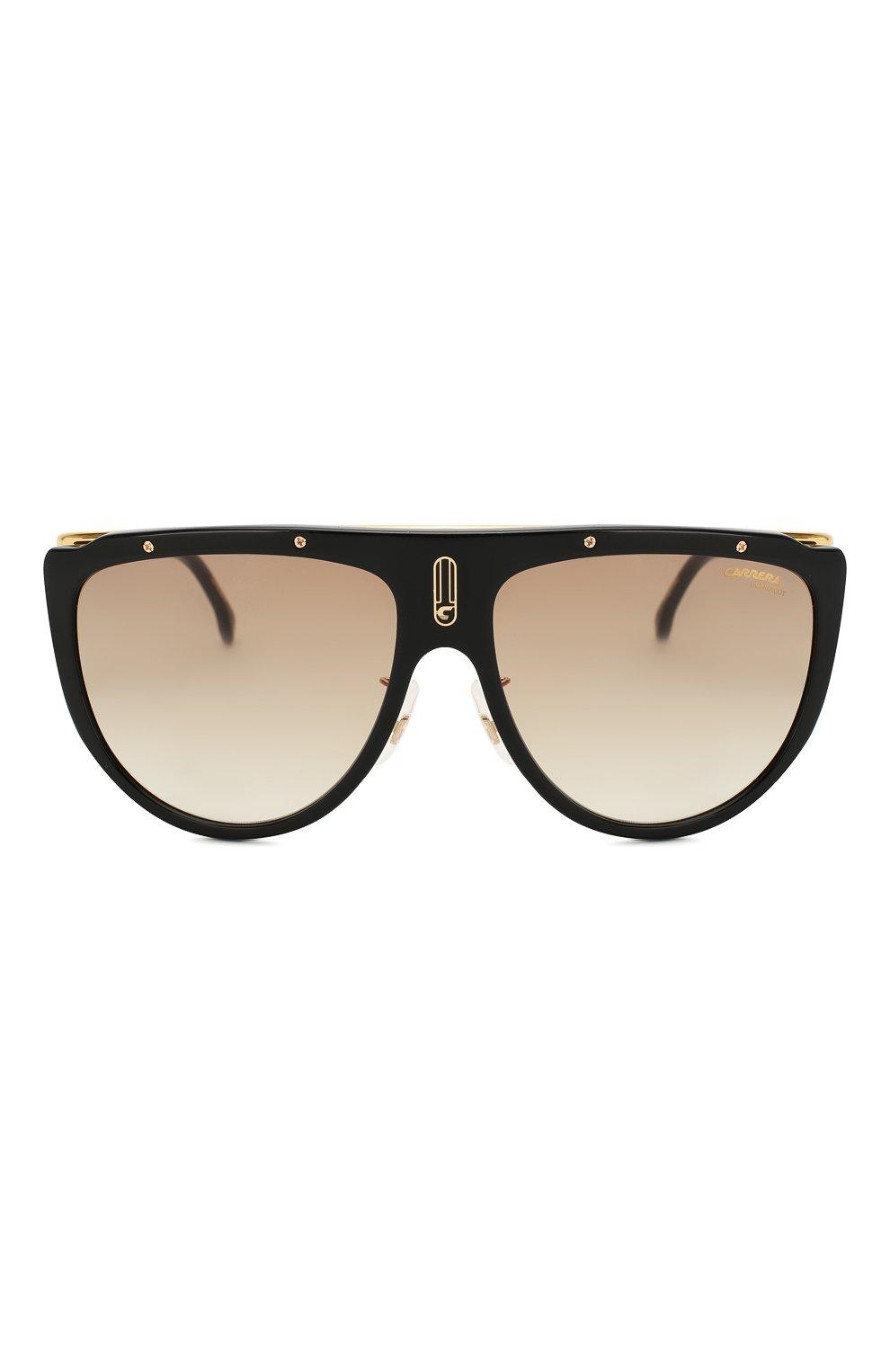 Женские солнцезащитные очки CARRERA коричневого цвета, арт. CARRERA 1023 2M2   Фото 3 (Тип очков: С/з; Статус проверки: Проверено, Проверена категория; Очки форма: Маска, D-форма; Оптика Гендер: оптика-унисекс)