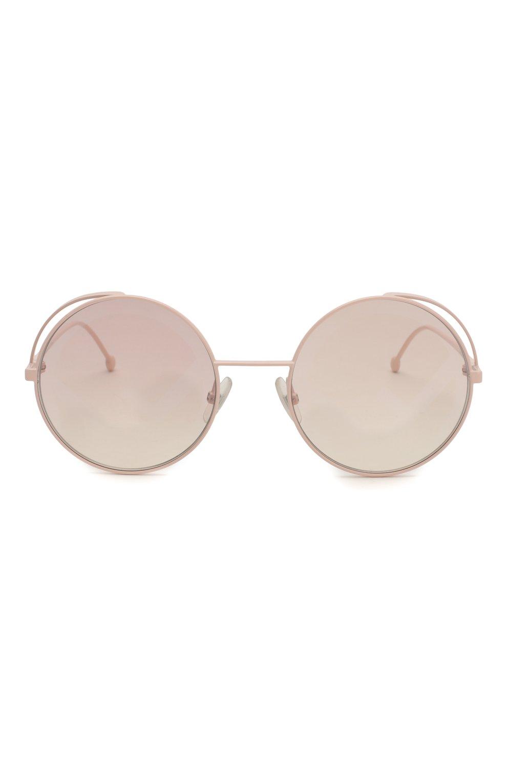 Женские солнцезащитные очки FENDI светло-розового цвета, арт. 0343 35J | Фото 3