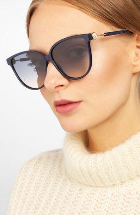 Мужские солнцезащитные очки FENDI синего цвета, арт. 0345 PJP | Фото 2