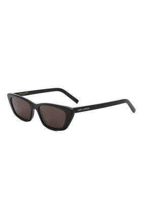 Женские солнцезащитные очки SAINT LAURENT черного цвета, арт. SL 277 001 | Фото 1