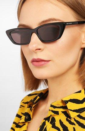Женские солнцезащитные очки SAINT LAURENT черного цвета, арт. SL 277 001 | Фото 2