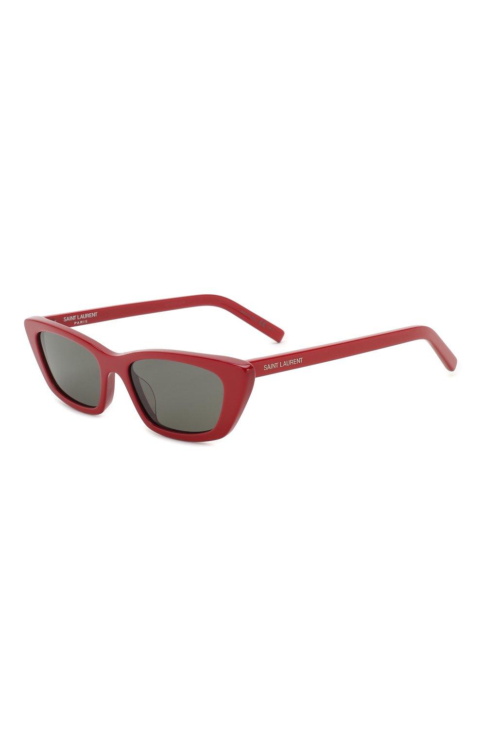 Женские солнцезащитные очки SAINT LAURENT красного цвета, арт. SL 277 003 | Фото 1