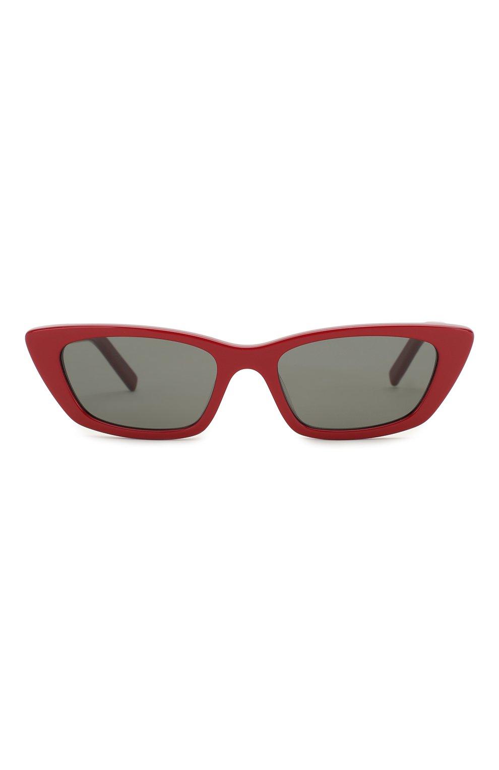Женские солнцезащитные очки SAINT LAURENT красного цвета, арт. SL 277 003 | Фото 3