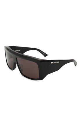 Мужские солнцезащитные очки BALENCIAGA черного цвета, арт. BB0002 001 | Фото 1