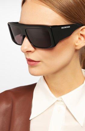 Мужские солнцезащитные очки BALENCIAGA черного цвета, арт. BB0002 001 | Фото 2