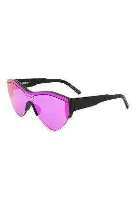 Женские солнцезащитные очки BALENCIAGA фиолетового цвета, арт. BB0004 002 | Фото 1