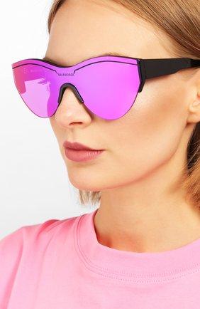 Женские солнцезащитные очки BALENCIAGA фиолетового цвета, арт. BB0004 002 | Фото 2