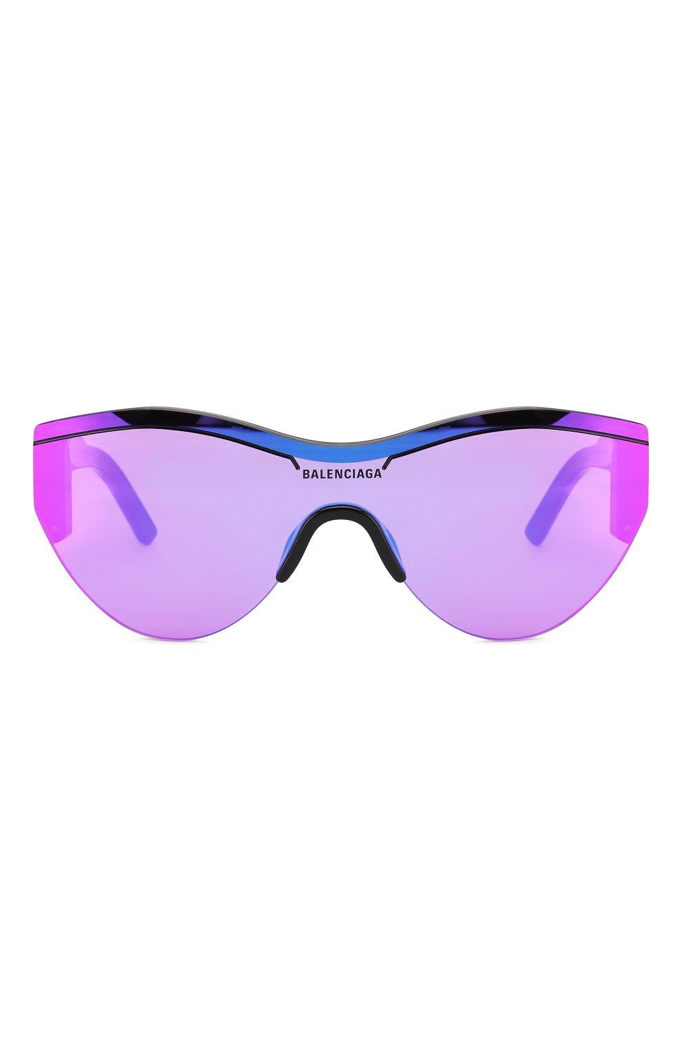Женские солнцезащитные очки BALENCIAGA фиолетового цвета, арт. BB0004 002 | Фото 3