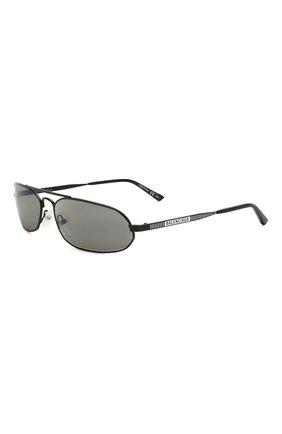 Мужские солнцезащитные очки BALENCIAGA черного цвета, арт. BB0010 001 | Фото 1