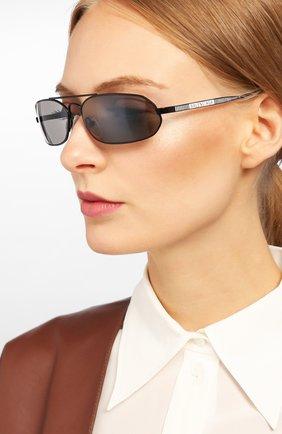 Мужские солнцезащитные очки BALENCIAGA черного цвета, арт. BB0010 001 | Фото 2