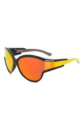 Мужские солнцезащитные очки BALENCIAGA оранжевого цвета, арт. BB0038 004 | Фото 1