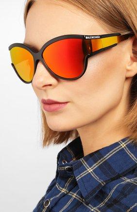 Мужские солнцезащитные очки BALENCIAGA оранжевого цвета, арт. BB0038 004 | Фото 2