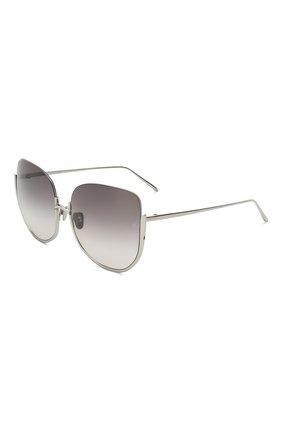 Мужские солнцезащитные очки LINDA FARROW серебряного цвета, арт. LFL847C7 SUN | Фото 1
