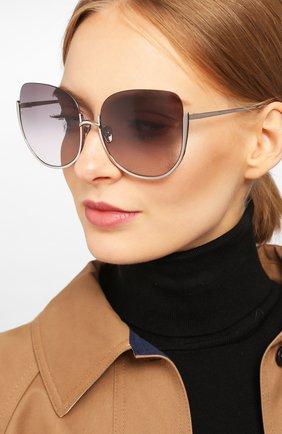 Мужские солнцезащитные очки LINDA FARROW серебряного цвета, арт. LFL847C7 SUN | Фото 2