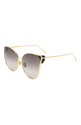 Мужские солнцезащитные очки LINDA FARROW золотого цвета, арт. LFL895C4 SUN | Фото 1