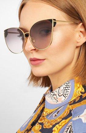 Мужские солнцезащитные очки LINDA FARROW золотого цвета, арт. LFL895C4 SUN | Фото 2