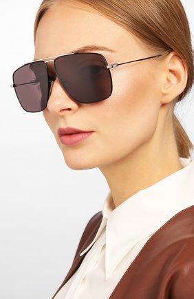 Женские солнцезащитные очки SAINT LAURENT черного цвета, арт. SL 298 002 | Фото 2