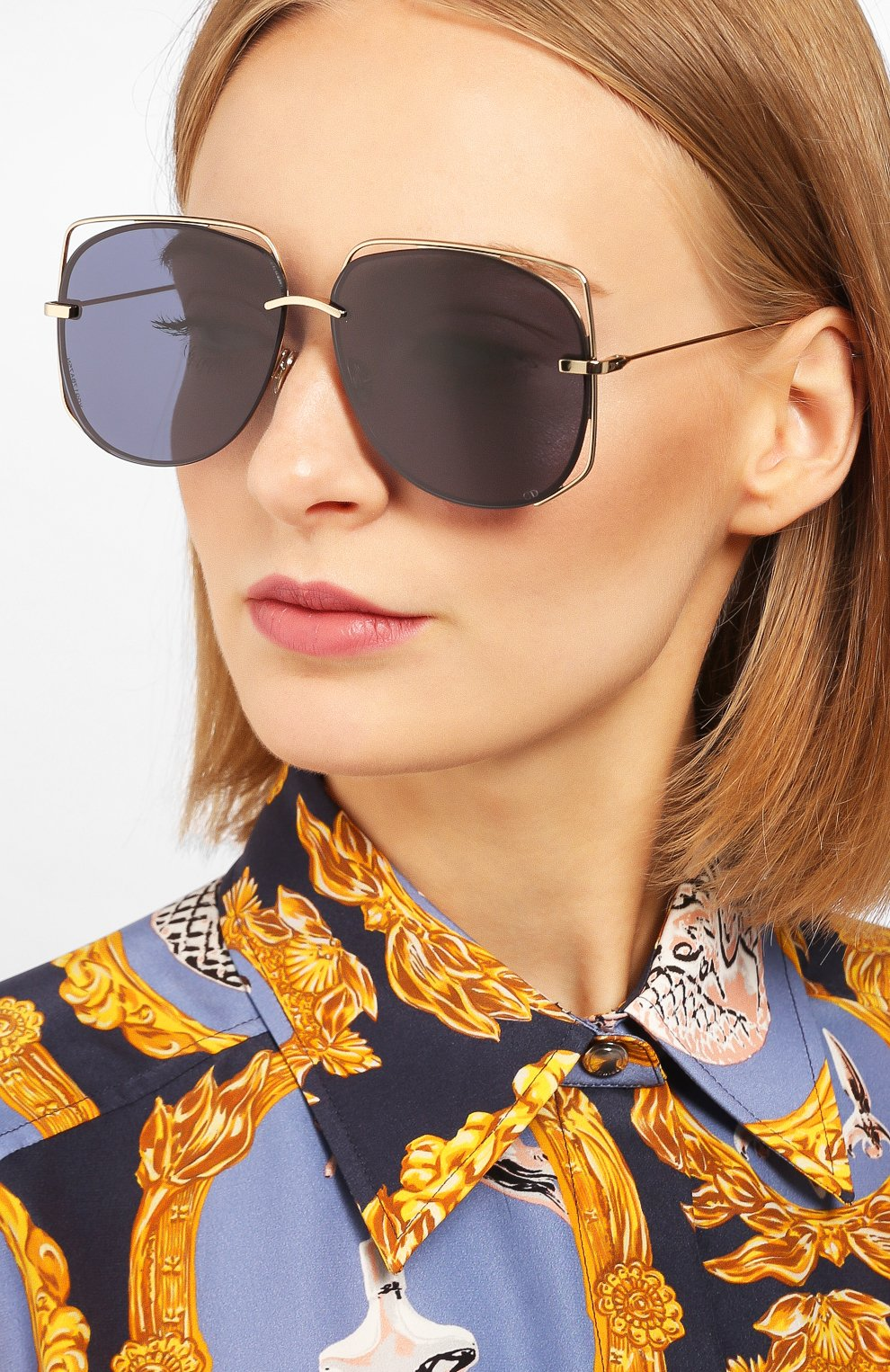 Женские солнцезащитные очки DIOR черного цвета, арт. DI0RSTELLAIRE6 J5G | Фото 2