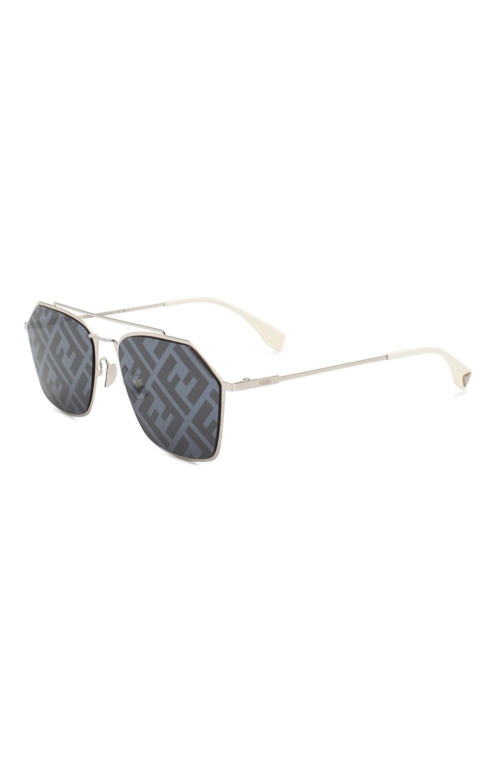 Женские солнцезащитные очки FENDI серебряного цвета, арт. M0022 85L | Фото 1