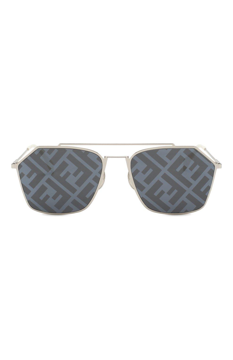 Женские солнцезащитные очки FENDI серебряного цвета, арт. M0022 85L | Фото 3