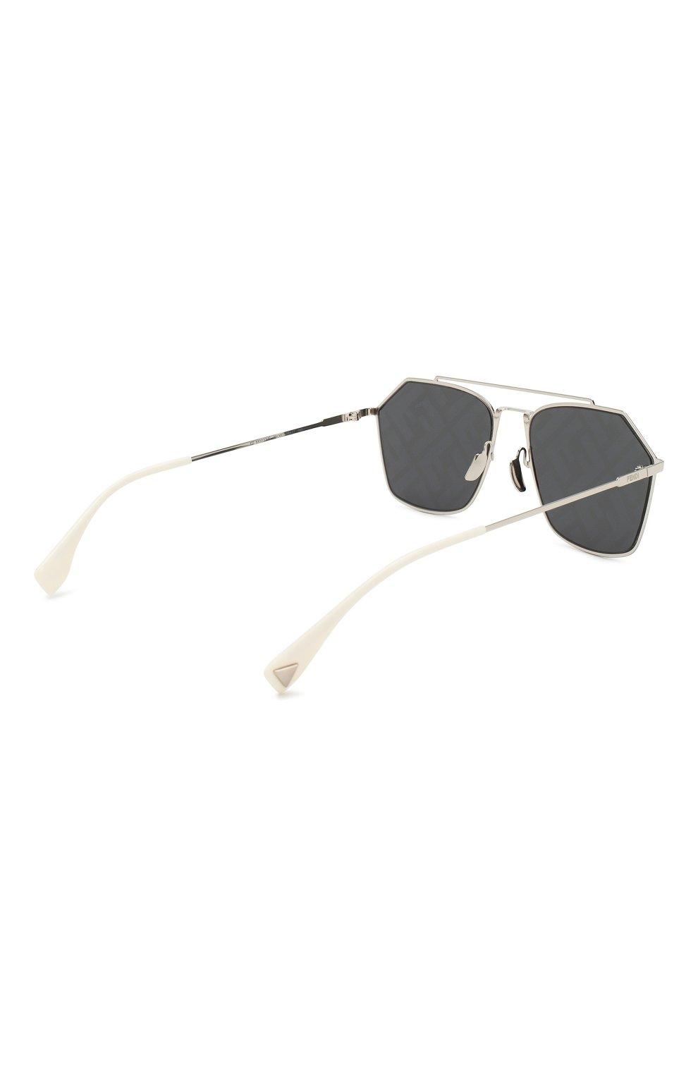 Женские солнцезащитные очки FENDI серебряного цвета, арт. M0022 85L | Фото 4