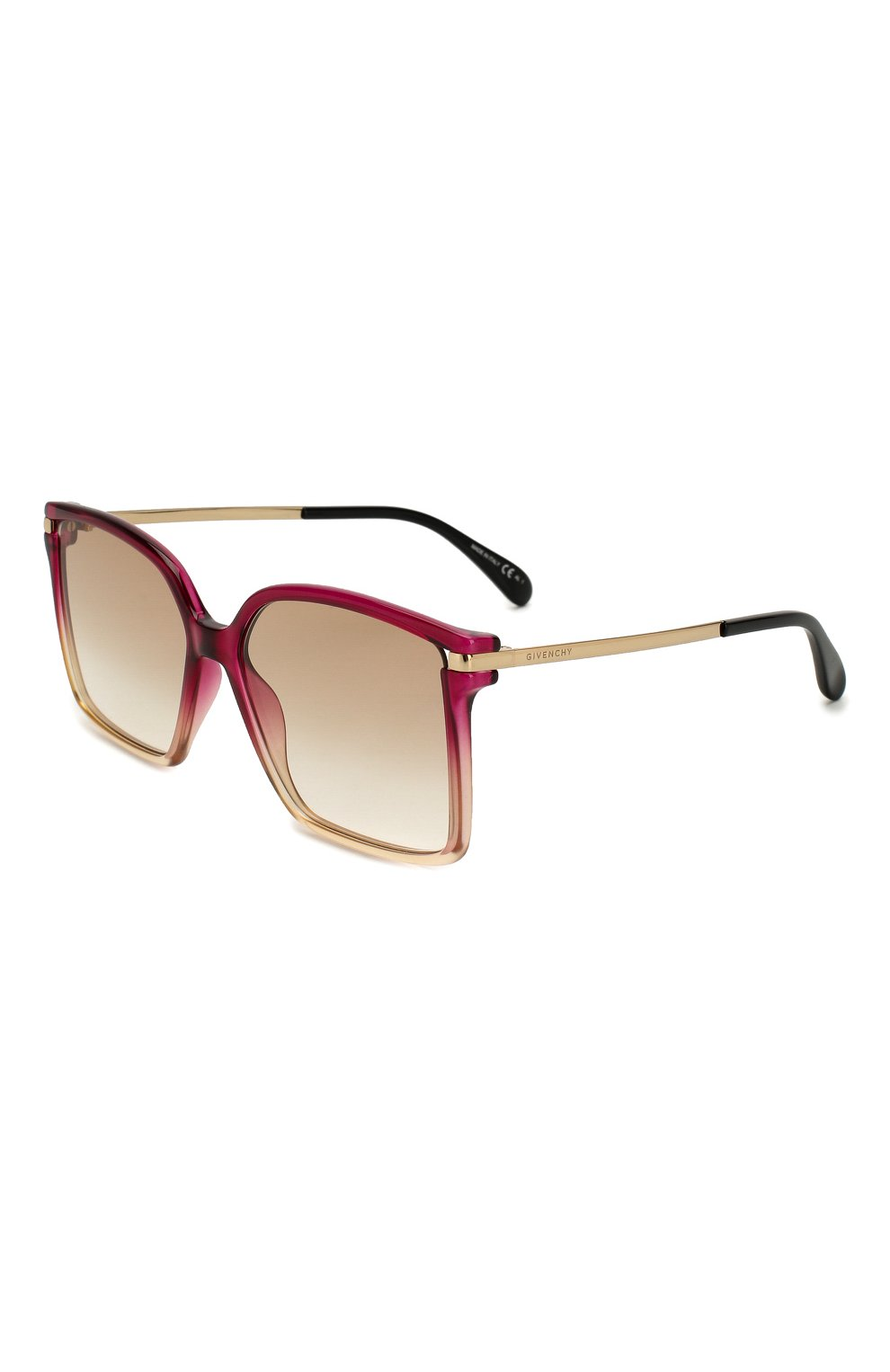 Женские солнцезащитные очки GIVENCHY красного цвета, арт. 7130 3R7   Фото 1