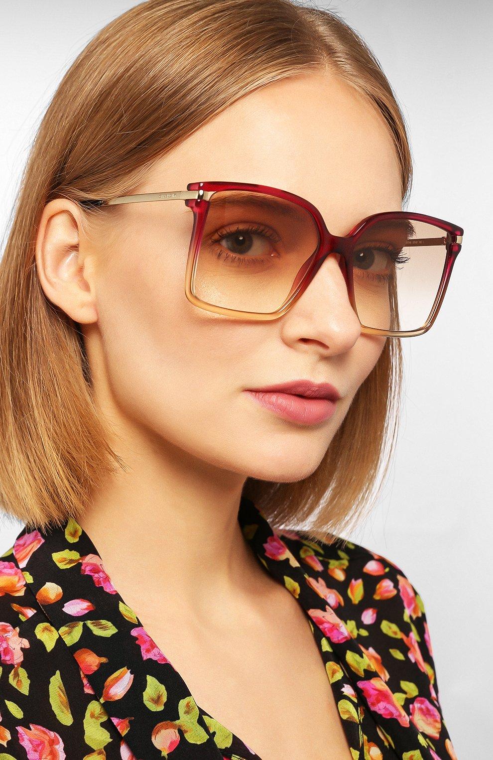 Женские солнцезащитные очки GIVENCHY красного цвета, арт. 7130 3R7   Фото 2