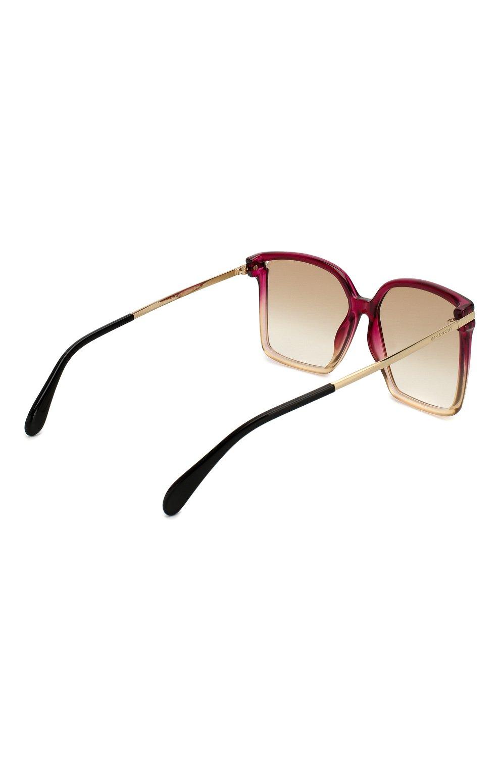 Женские солнцезащитные очки GIVENCHY красного цвета, арт. 7130 3R7   Фото 4